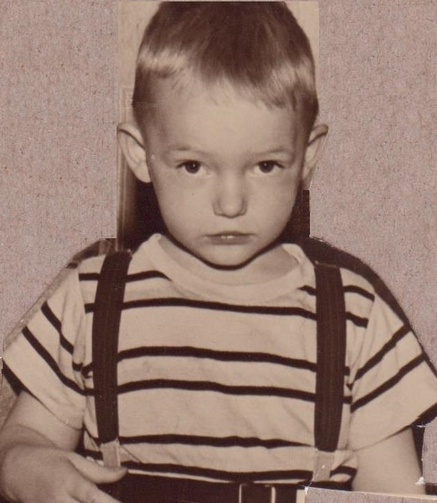 Bill Bader - Age 4 in suspenders