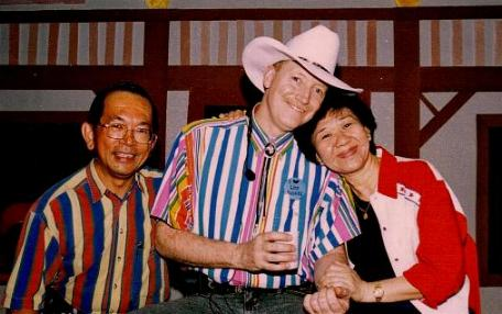 Cecil and Grace Ong with Bill Bader