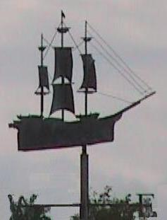weathervane of ship in nantucket