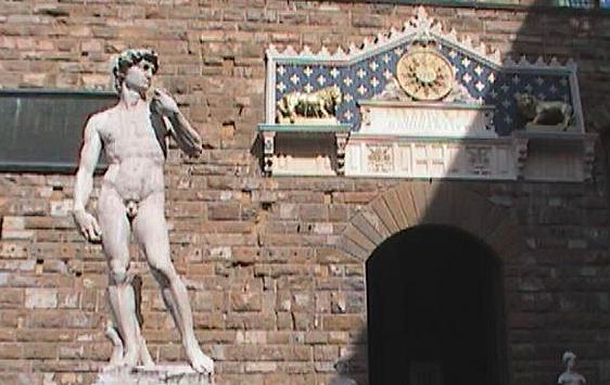 Florence-Statues outside the Palazzo Vecchio-David