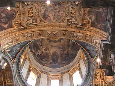 Rome - Santa Maria Maggiore InteriorCeilingAndDome