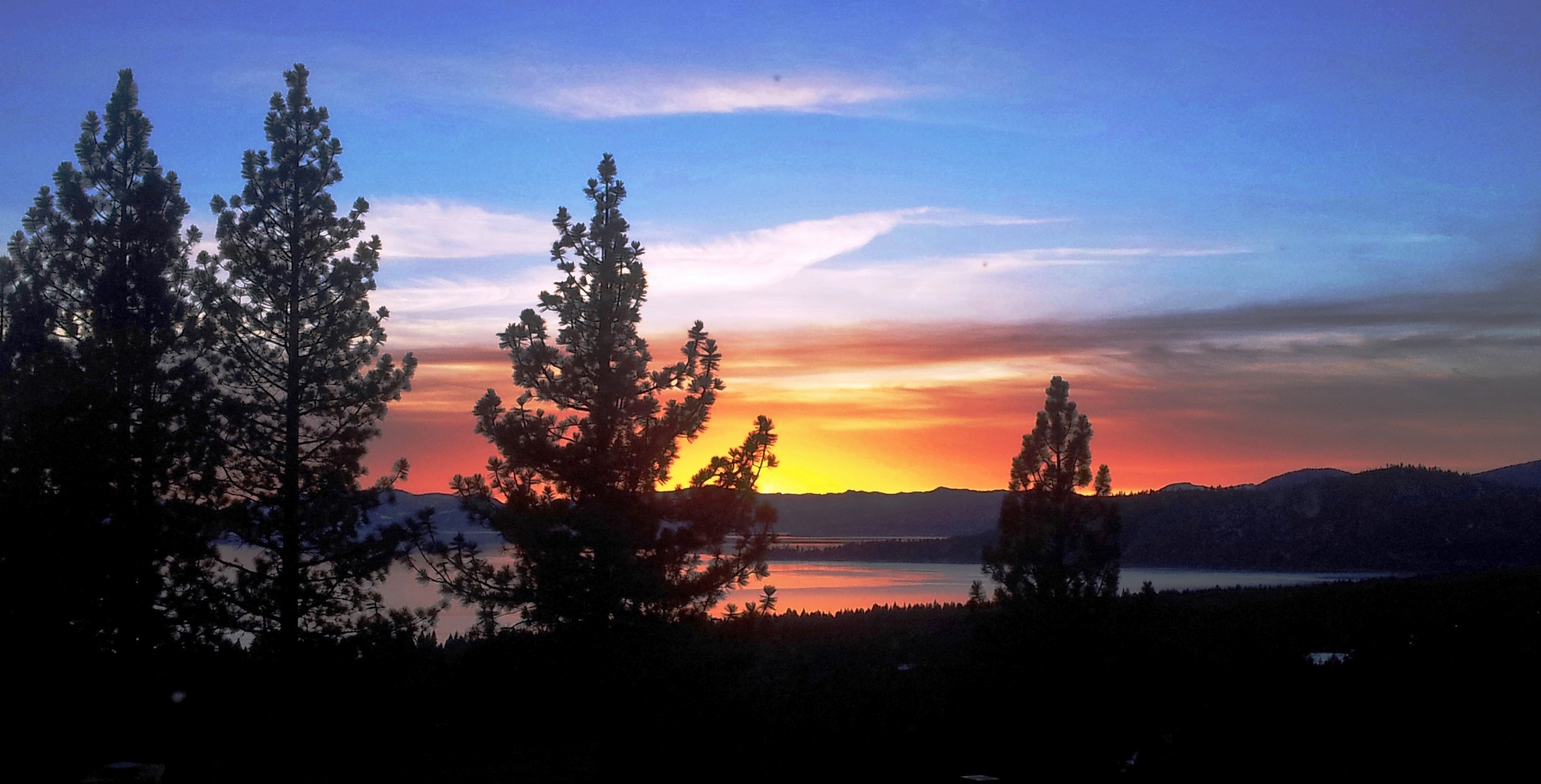 Lake Tahoe sunset from Bitterbrush