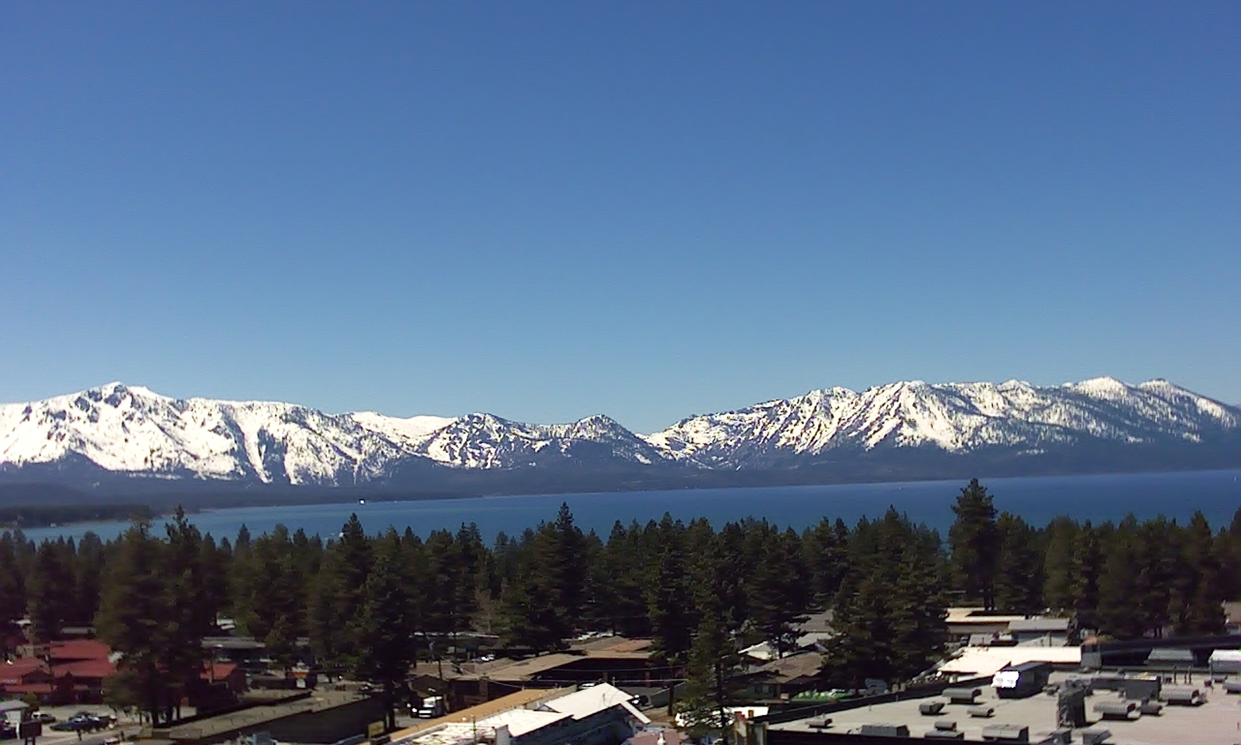 Lake Tahoe view from Harrahs top floor