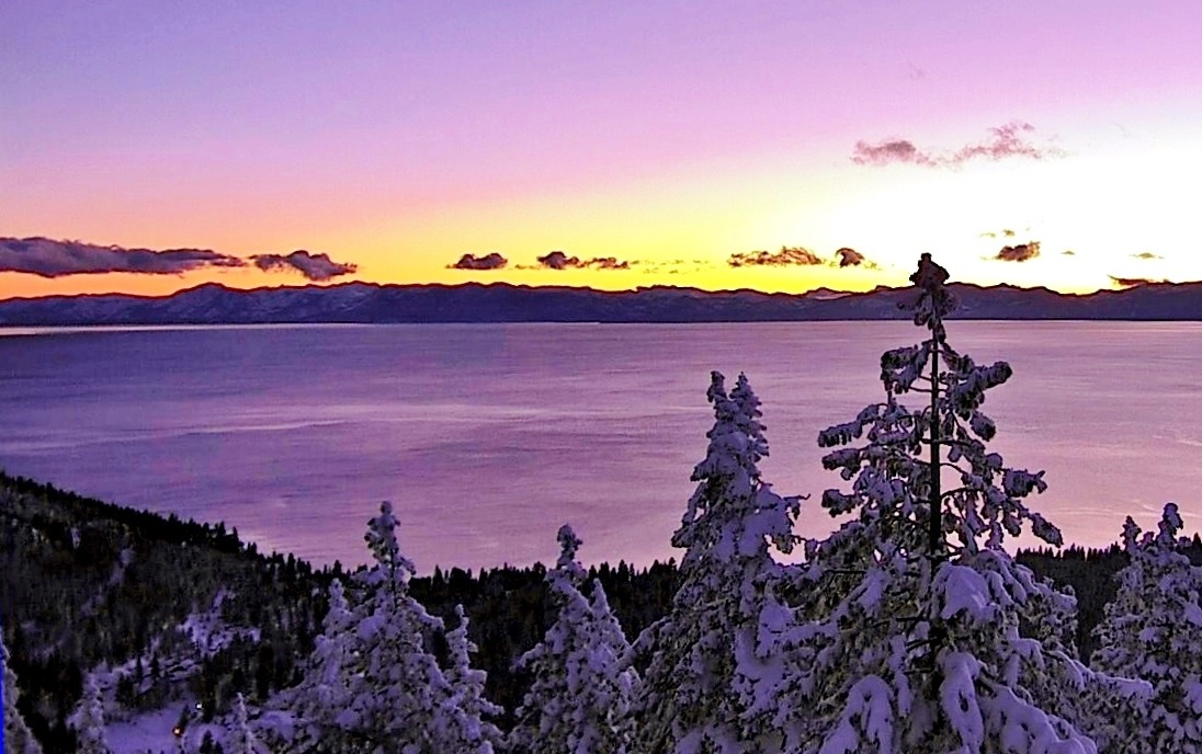 Tahoe purple sunset